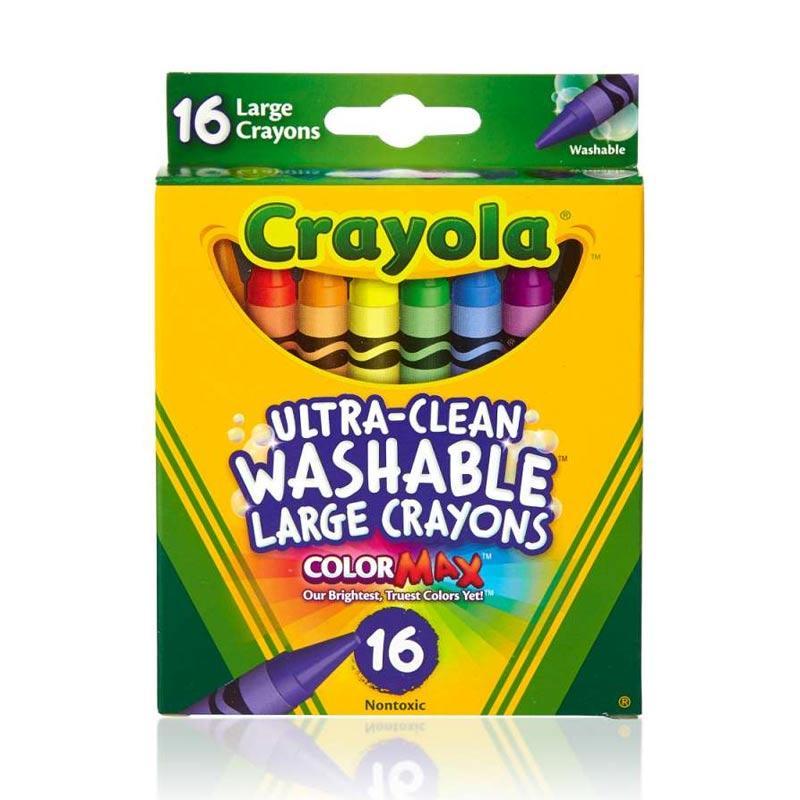 Crayola Large Washable Crayons 16 Ct