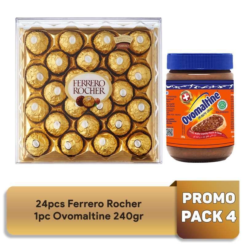 Ferrero Rocher Pack 4 Ovomaltine 240g Promo