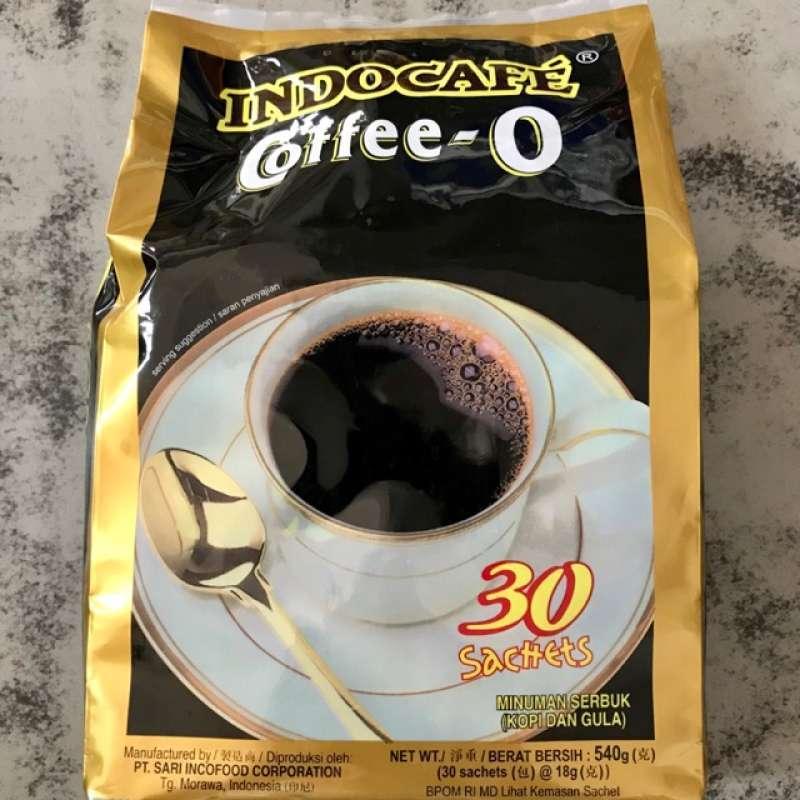 Kopi Hitam Kopi Indocafe Coffee O Isi 30 Sachet