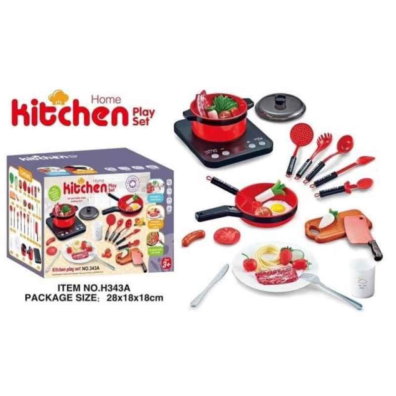 Jual Mainan Anak Home Kitchen Play Set Peralatan Masak Dapur 36 Pcs 343a Online November 2020 Blibli Com