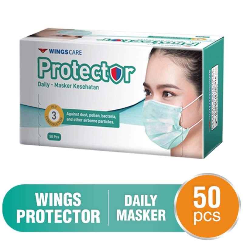 Bagikan facebook facebook mail WINGSCARE Mask Protector 50 Pcs