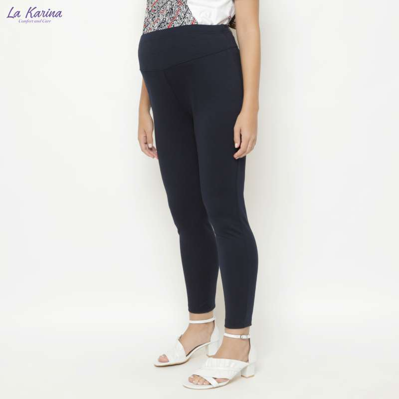 Jual La Karina Celana Legging Hamil Dgn Karet Elastis Adjustable Kathryn K 08009 Navy Blue Online Oktober 2020 Blibli Com