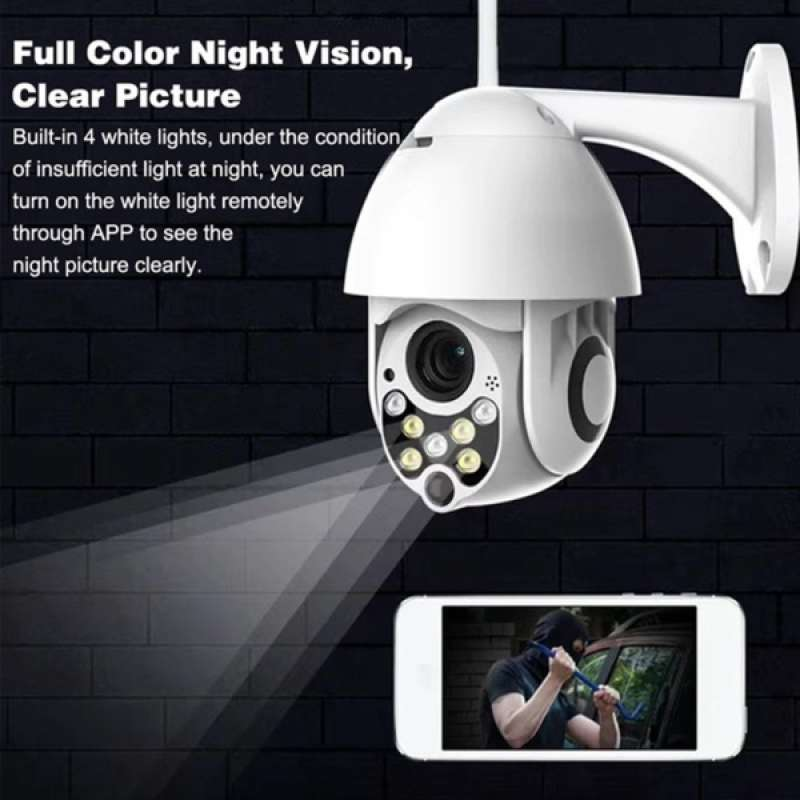 Jual Ip Cctv Camera Wifi Ptz Home Security Cam Monitoring Dome Camera Waterproof Online Februari 2021 Blibli