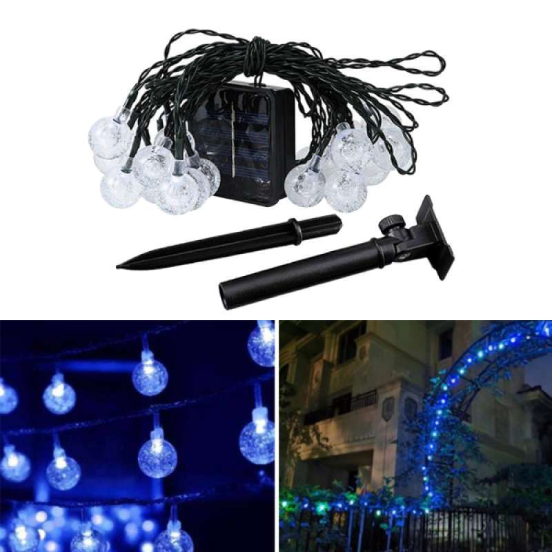 Jual 20 30 50 Led Battery Solar String Fairy Lights Bulb Garden Outdoor Party Wedding Online Desember 2020 Blibli