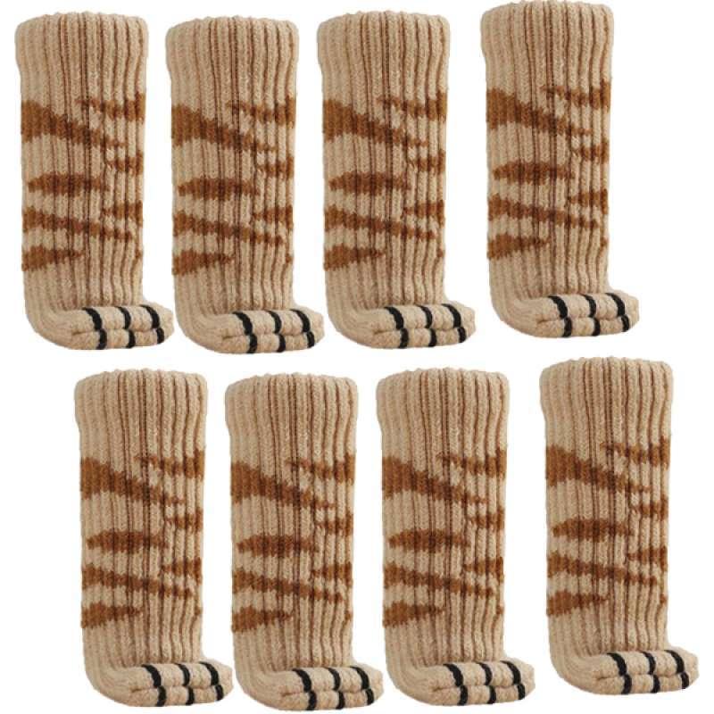 16x Chair Leg Socks Knitted Elastic Non-Slip Furniture Socks Covers White