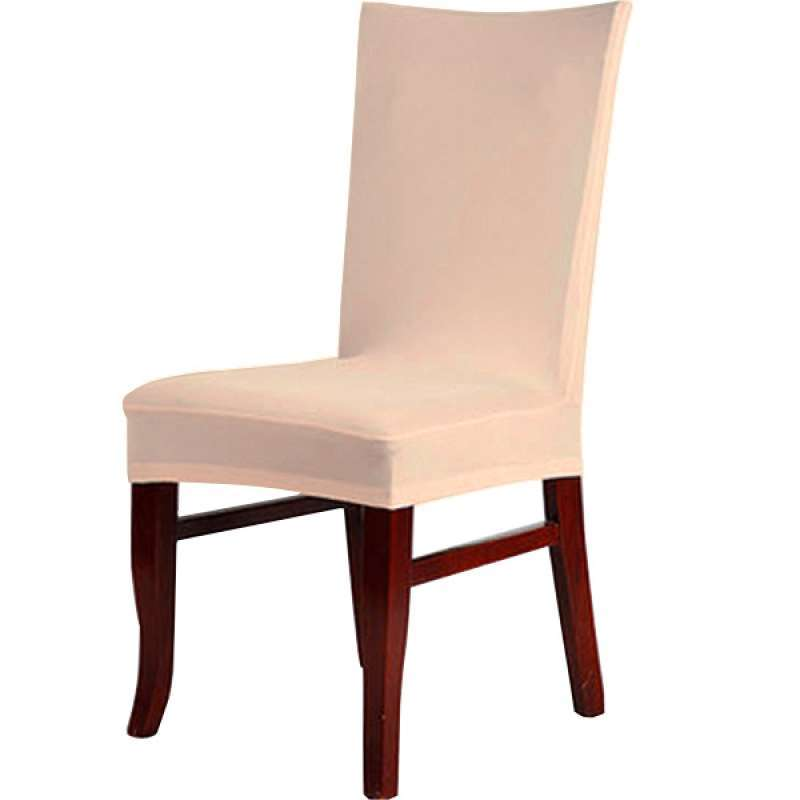 Jual Oem Spandex Fabric Stretch Removable Washable Dining Room Chair Cover Protector Seat Slipcovers Champagne 4 Pcs Online Oktober 2020 Blibli Com