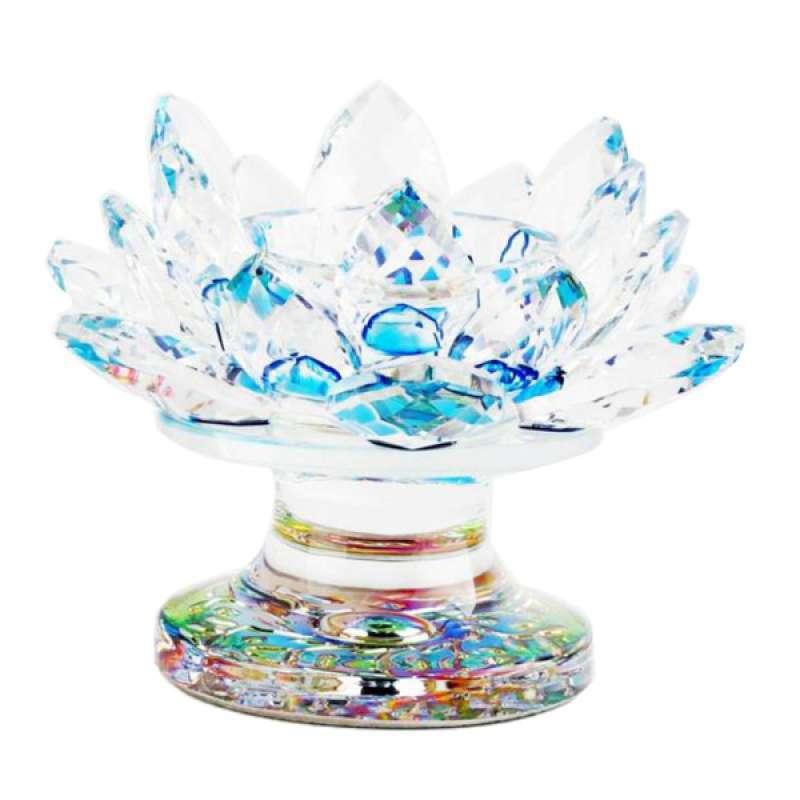Jual Crystal Glass Lotus Flower Tea Light Candle Holder Gift Online Desember 2020 Blibli