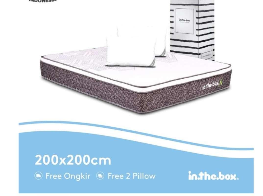 Kasur Spring Bed Inthebox X Ukuran 200 X 200 Super King Terbaru Agustus 2021 Harga Murah Kualitas Terjamin Blibli Ukuran kasur queen size