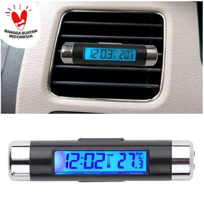 Jual Jam Digital Dashboard Mobil Termometer Suhu Ac Dengan Lampu Online Februari 2021 Blibli