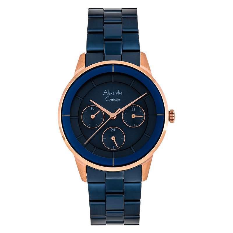 Alexandre Christie AC 2714 BF BURBU Ladies Blue Dial Blue Stainless Steel Machtwatch