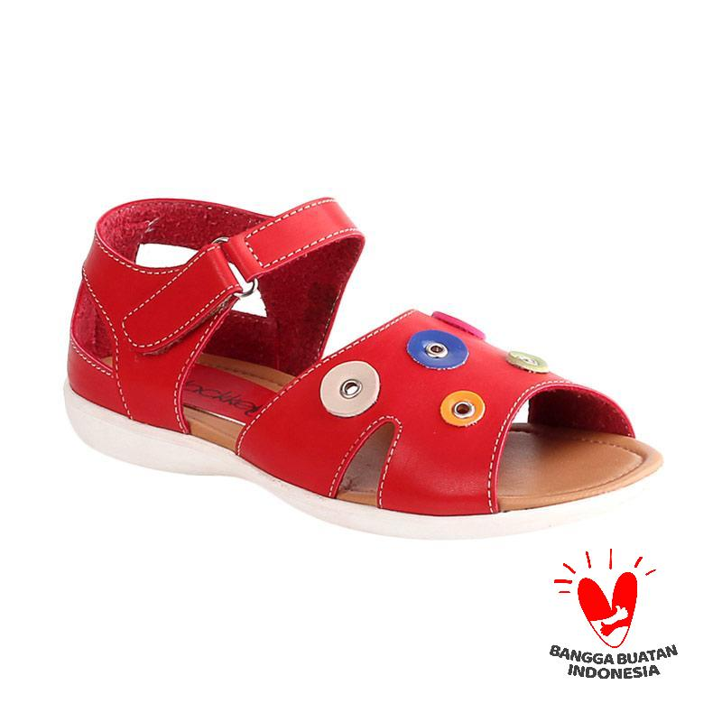 Blackkelly Nelly LFS 817 Sandal Flat Anak - Red Brown