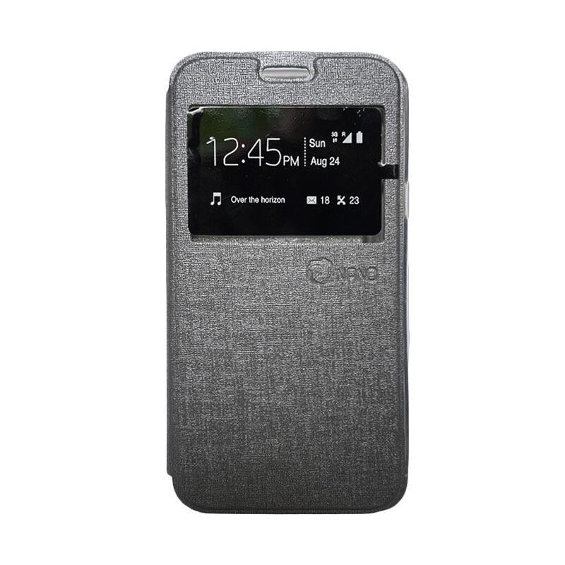 harga Nano Flip Cover Casing for Samsung Galaxy Mega 5.8 - Abu-abu Blibli.com