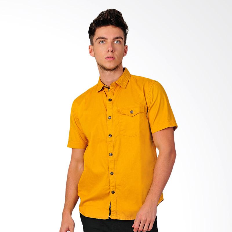 SJO & SIMPAPLY New Tanaska Men's Shirt Kemeja Pria - Yellow