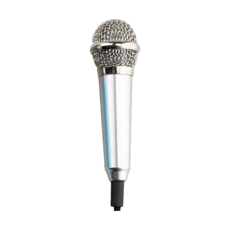 Universal Mini Microphone for Smartphone - Silver