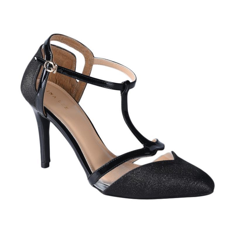 Lina Lee Victoria Sepatu High Heels - Hitam