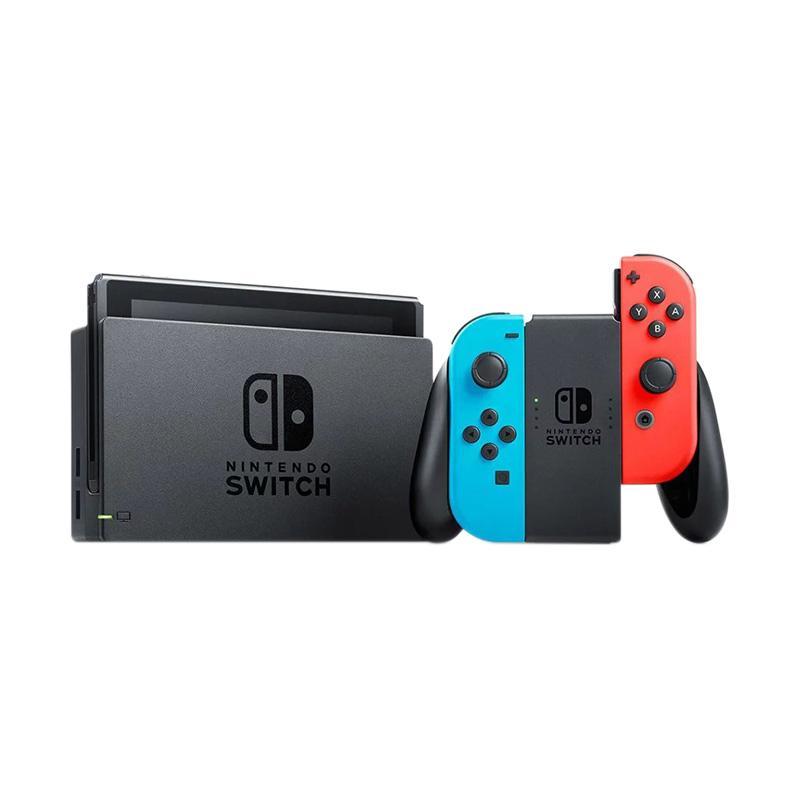 Nintendo Switch Game Console Blue Red Bergaransi 3 Bulan Free Amiibo Random