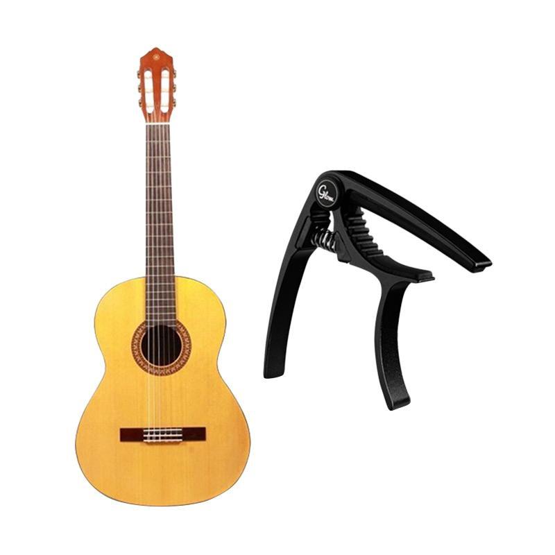 Yamaha C-315 Gitar Klasik with Capo Glow GC-20 - Black C315CAPO