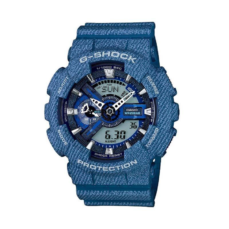 Casio G-Shock GA-110DC-2A2D Jam Tangan Pria - Biru Hitam