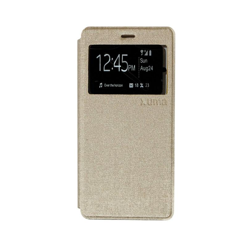 Enigma Flip Cover Casing for ZTE Blade A711 - Gold