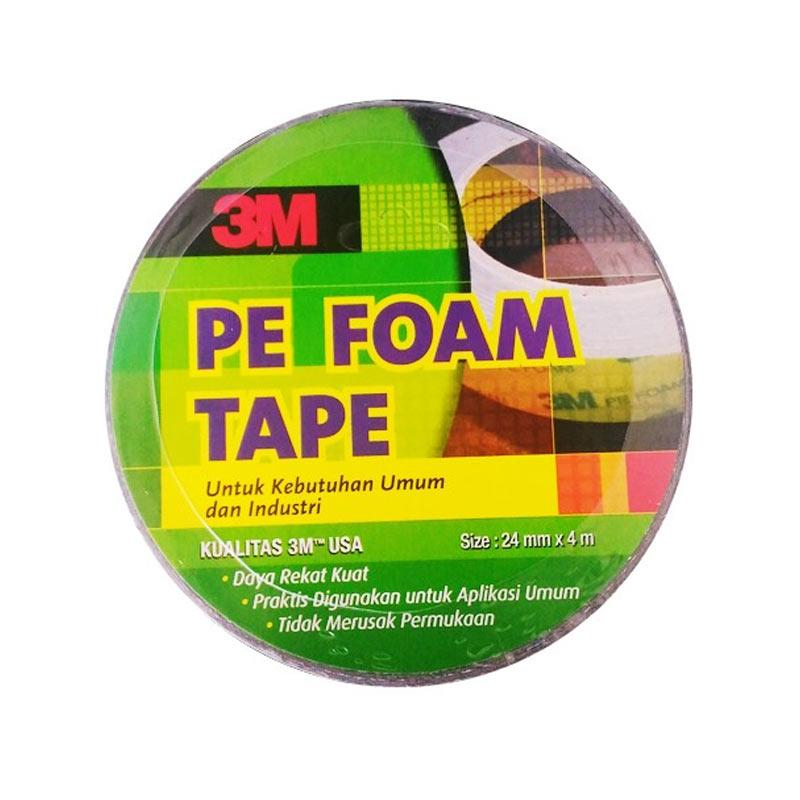 3M 1600 T PE Foam Double Tape [1.0 mm/24 mm x 4 m/2 pcs]