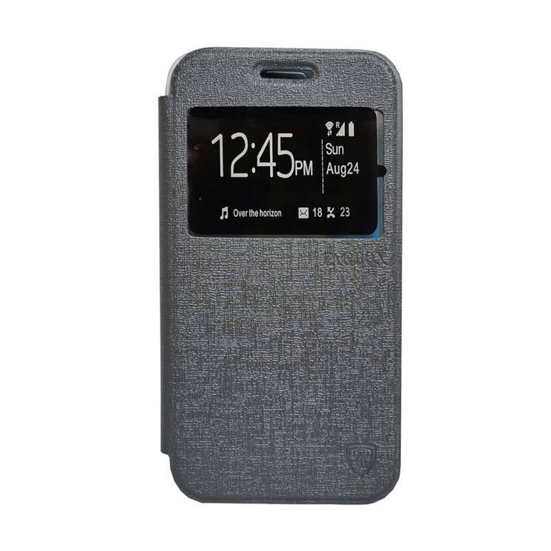 ZAGBOX Flip Cover Casing for Sony Xperia M5 - Abu-abu