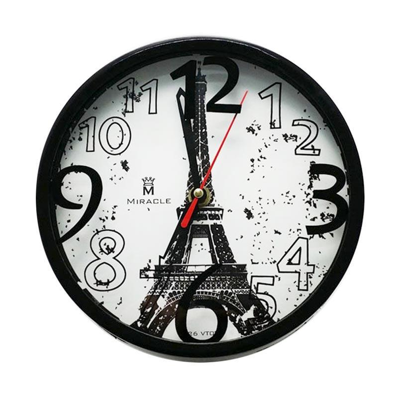 Miracle Vintage Paris VT03 Jam Dinding - Black