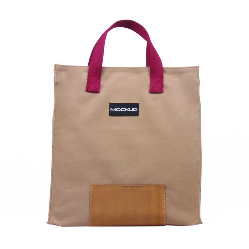 Mockup BGO.12 Mini Tote Bag Tas Wanita - Khaki