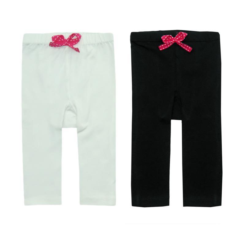 Bearhug Baby Legging Pants - Putih-Hitam [2 Pcs]