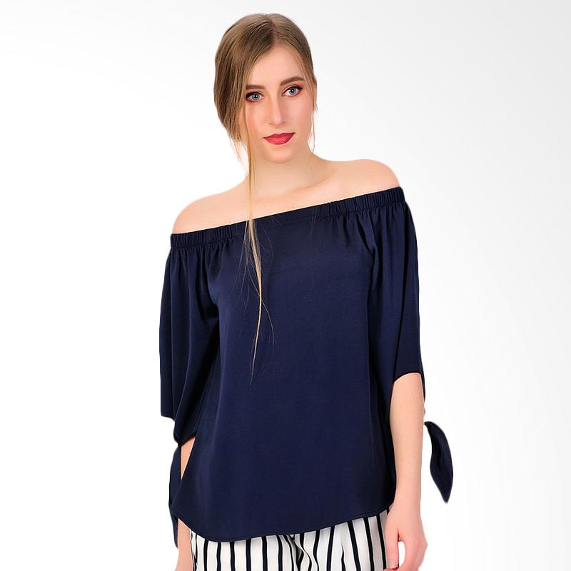 SJO & SIMPAPLY Chic Simple Women's Blouse - Navy