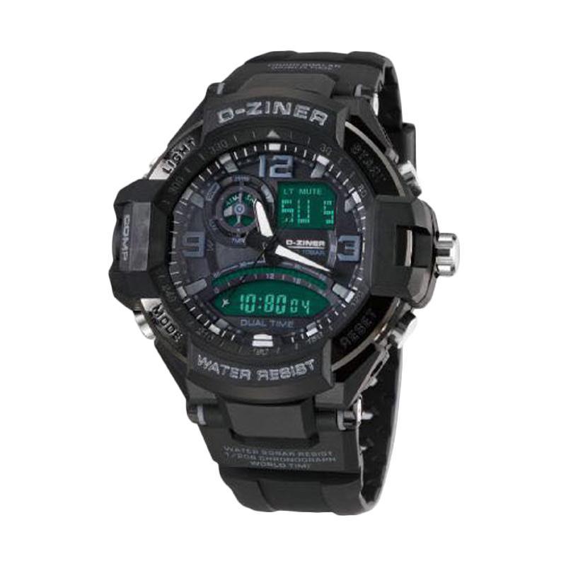 D-Ziner DZ0322 Dual Time Jam Tangan Pria - Hitam