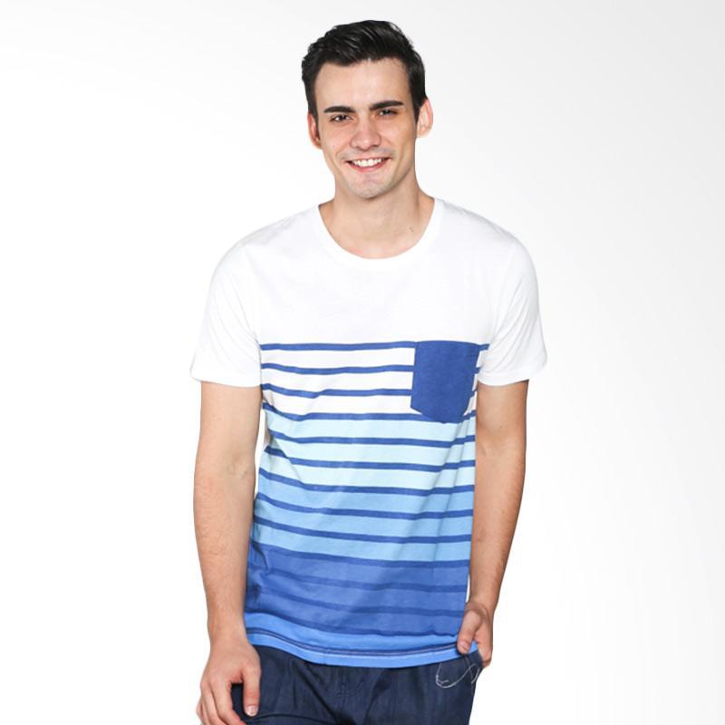 H&R Stripe Round Neck 17101-4982N T-Shirt Pria - White Extra diskon 7% setiap hari Extra diskon 5% setiap hari Citibank – lebih hemat 10%