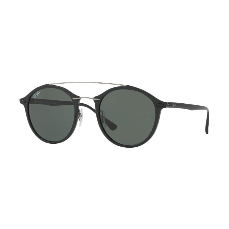 Ray-Ban 601-71 Green RB4266 Sunglasses - Black [Size 49]