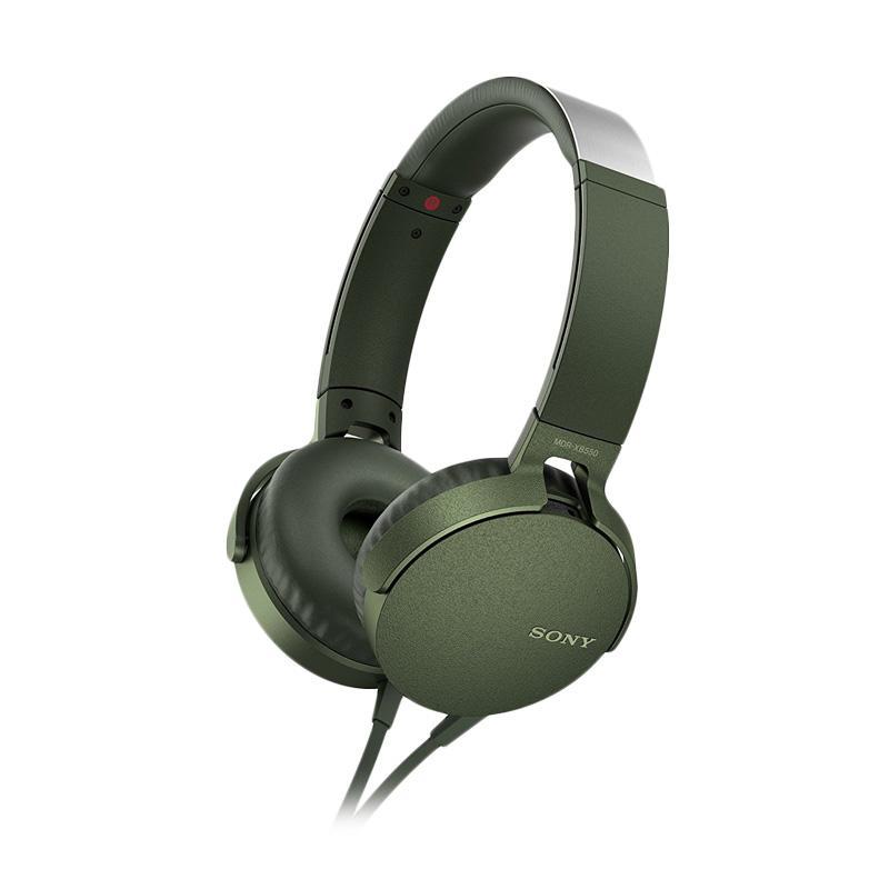 SONY MDR-XB550AP Extra Bass Headphone - Hijau