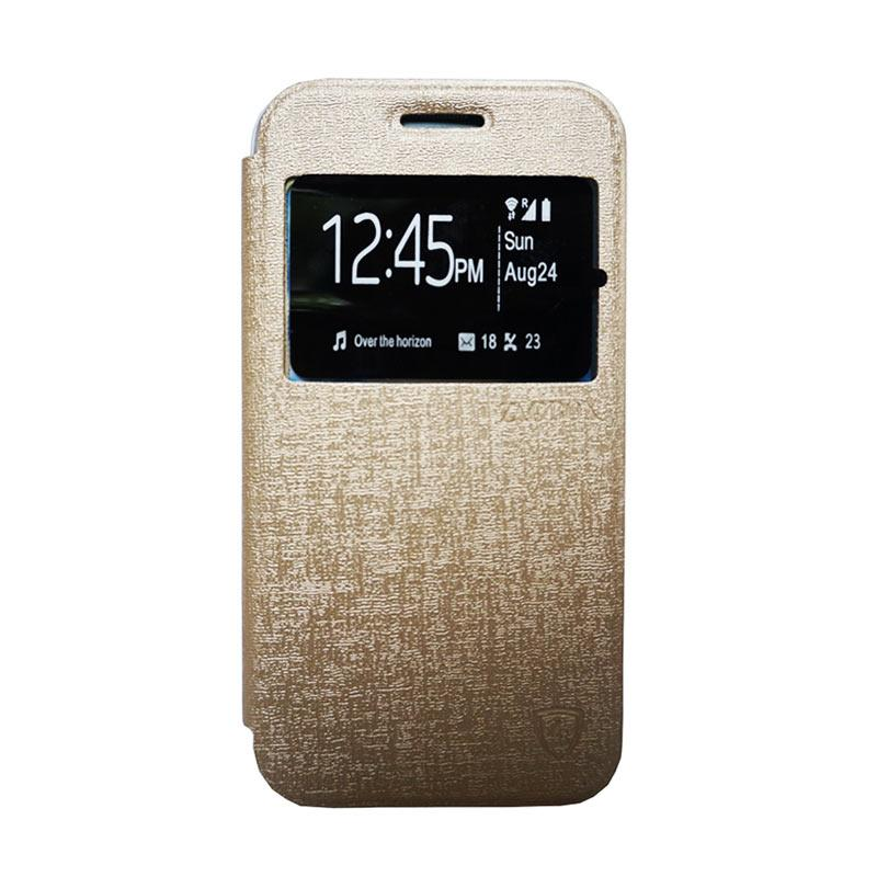 Zagbox Flip Cover Casing for Asus Zenfone Go 4.5 - Gold