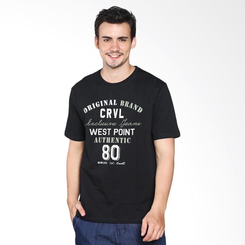 Carvil Men 11.TEE.BB2.05/ TEEBLK-B2 T-Shirt Pria - Black Extra diskon 7% setiap hari Extra diskon 5% setiap hari Citibank – lebih hemat 10%