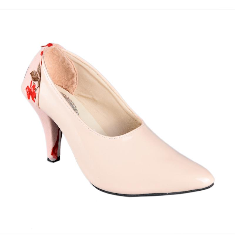 HEBRON SN-091B High Heels Sepatu Wanita - Cream