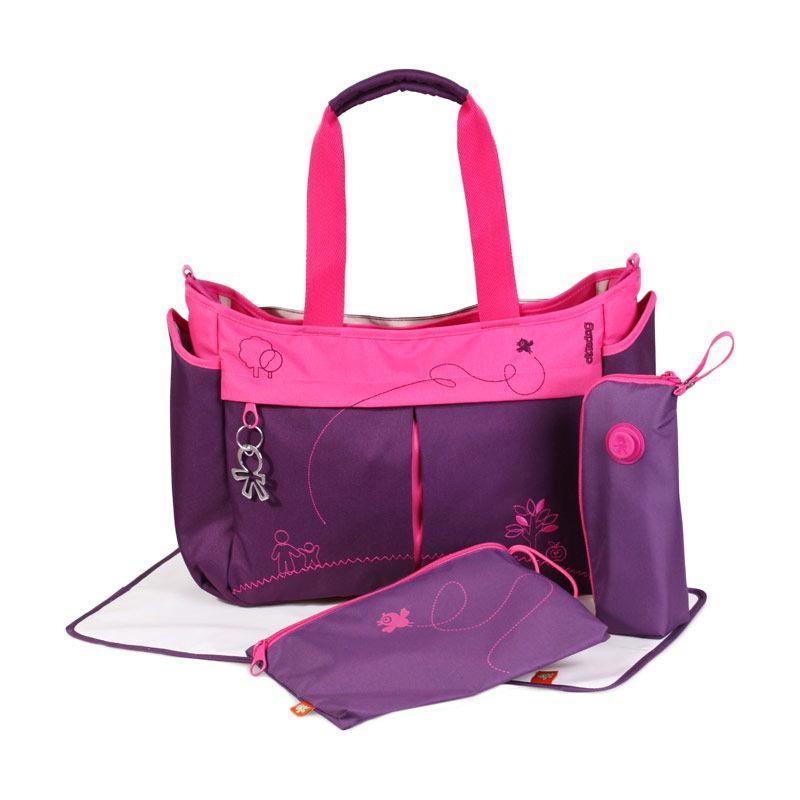 Okiedog Metro Mondrian Tas Bayi - Purple