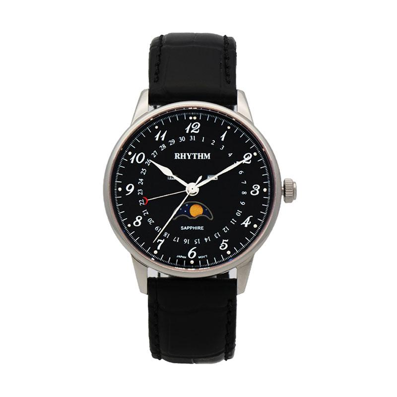 Rhythm FI1607L 02 Leather Jam Tangan Pria - Black