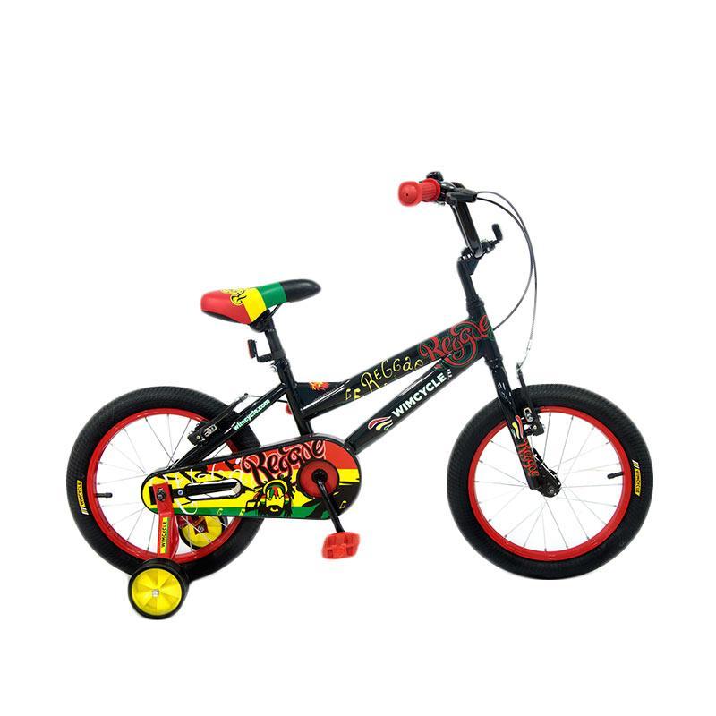 Wimcycle Reggae BMX Sepeda Anak - Black [16 Inch]
