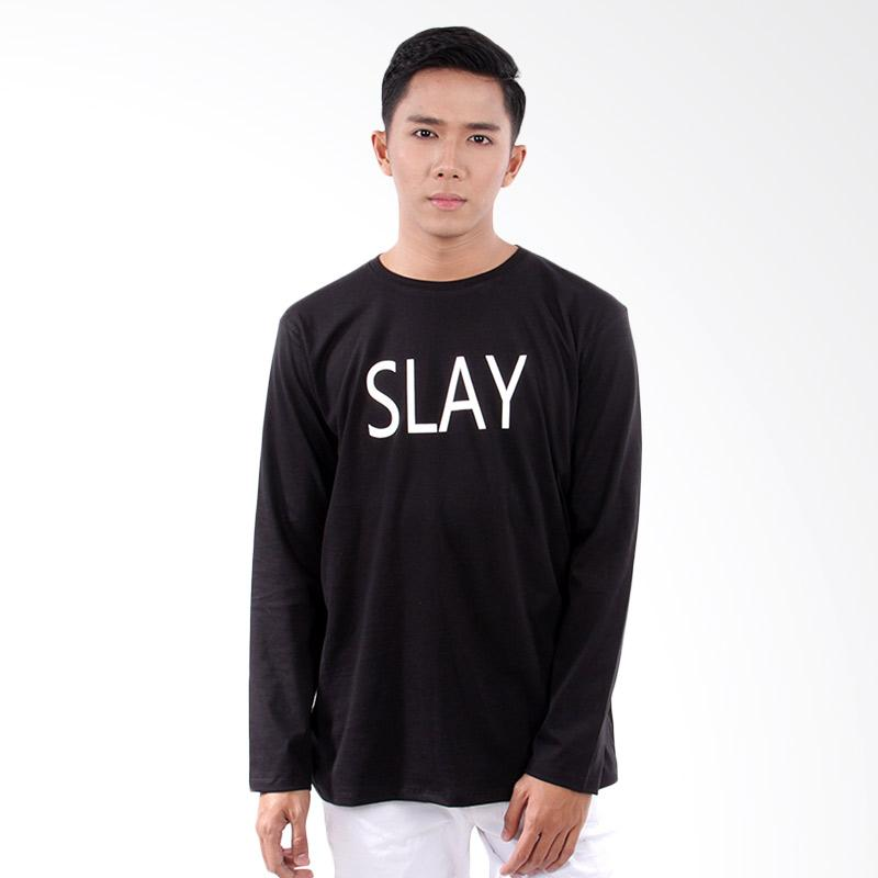 Word.o T-shirt Slay Lengan Panjang - Hitam