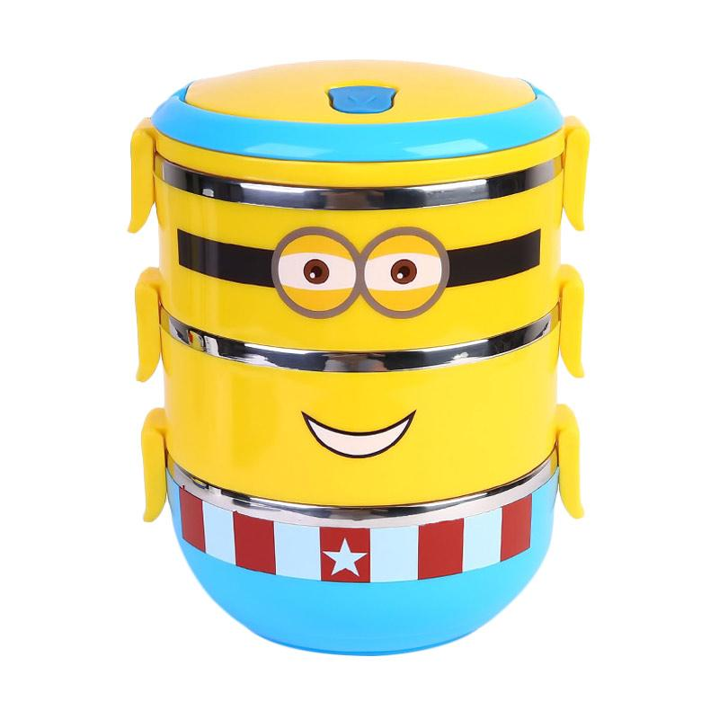 Ronaco Minion Lunch Box - Kuning [3 Susun]