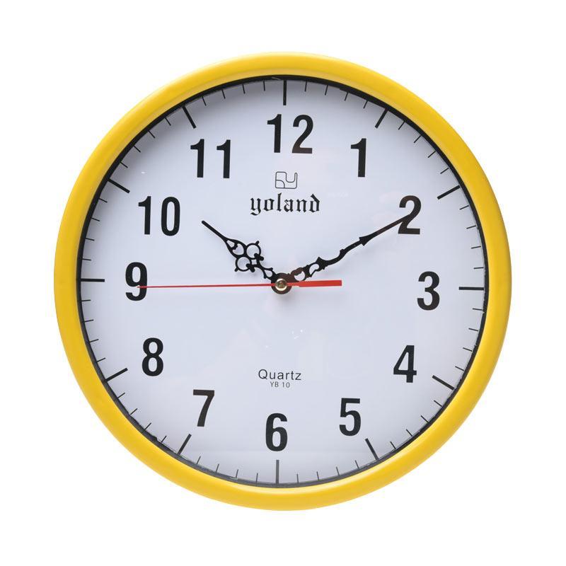 Yoland Numberic YB10 Jam Dinding - Yellow [30 cm]