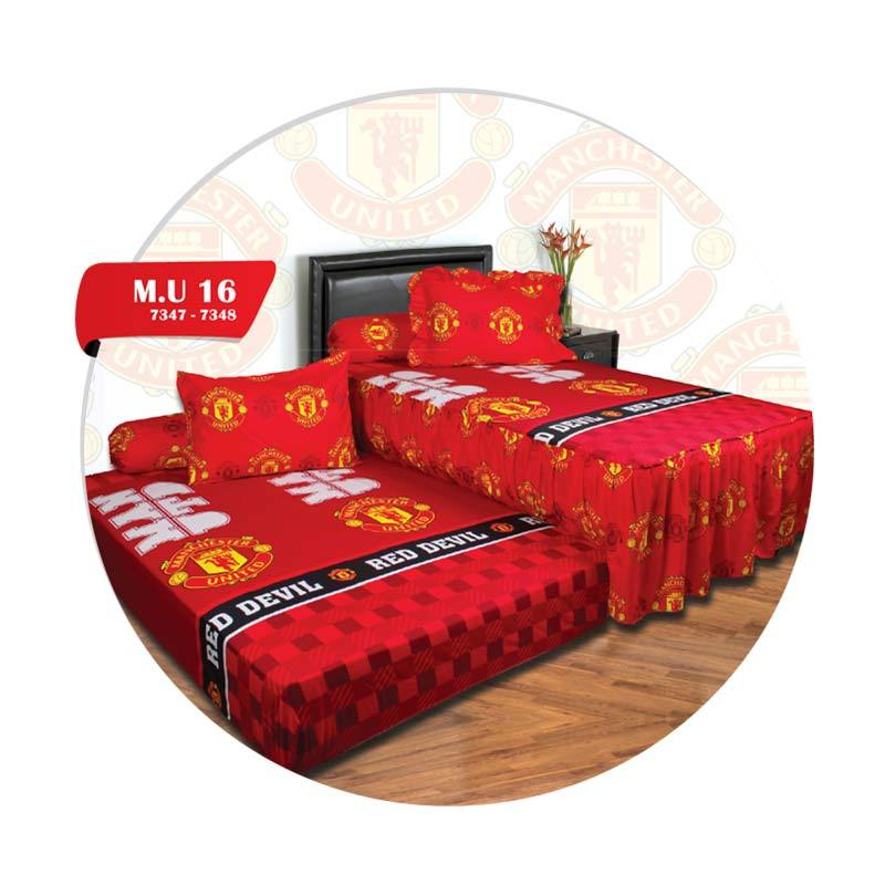 California Duo Motif Manchester United 16 Set Sprei [120 x 200 cm]