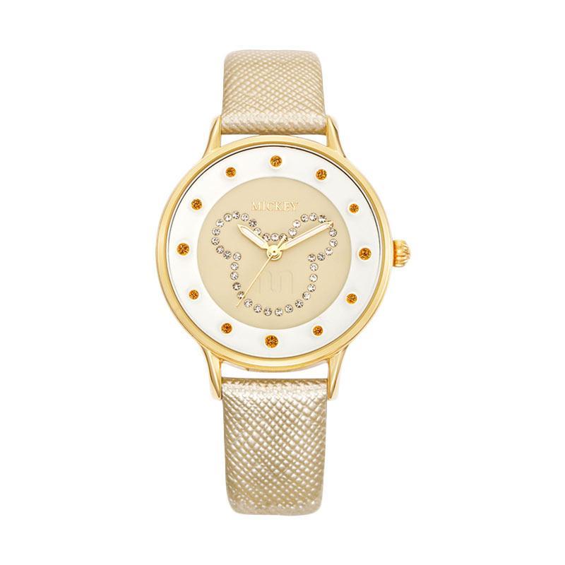Disney MS11025-G Mickey Jam Tangan Wanita - Gold