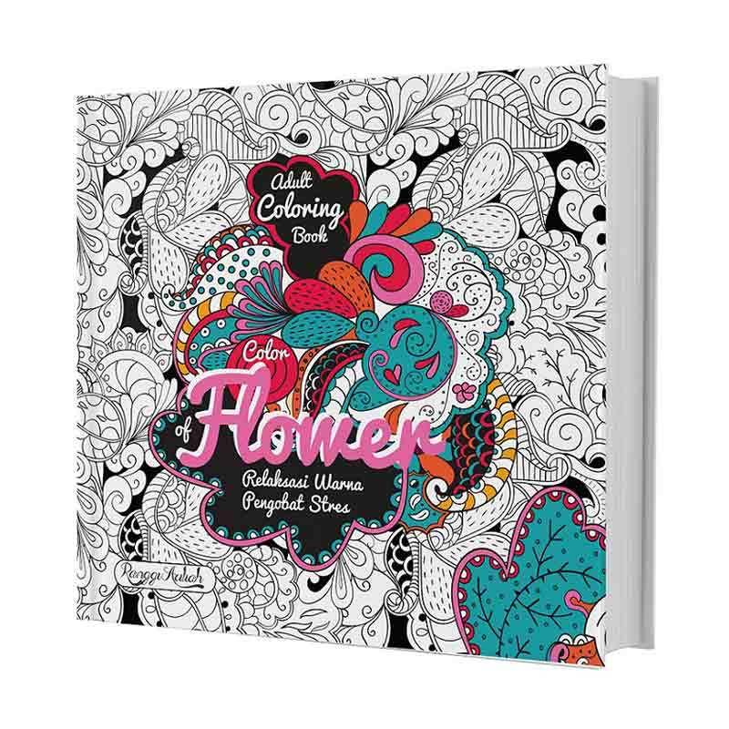 Jual Huta Paint Adult Coloring Book Color Of Flower Buku Arts