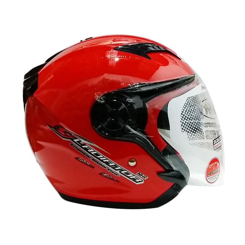 harga NHK Gladiator Open Face Helm Motor - Red Metalik Blibli.com