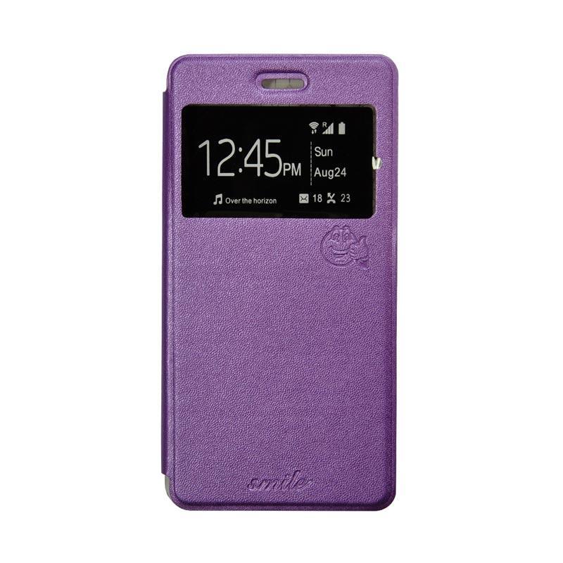 Smile Flip Cover Casing for Asus Zenpad C 7 Inch-ZE170CG - Ungu