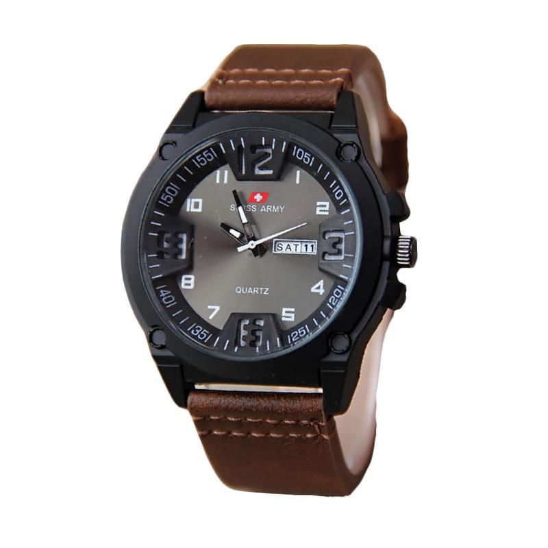 Swiss Army 002 Jam Tangan Pria - Brown Black