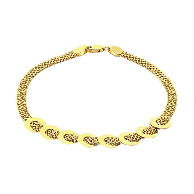 Halo Gold Bracelet - Gelang Emas Kadar 75