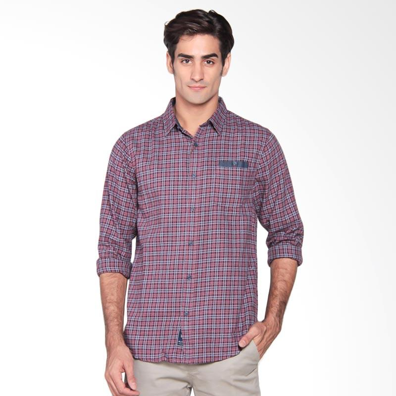 Famo Fit Relaxed Shirt Kemeja Pria - Red 503031711